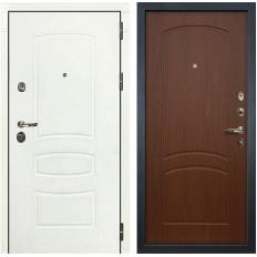 Входная дверь Лекс Сенатор 3К Шагрень белая / Береза мореная (панель №11)