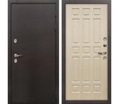 Входная уличная дверь с терморазрывом Лекс Термо Сибирь 3К Дуб беленый (панель №28)