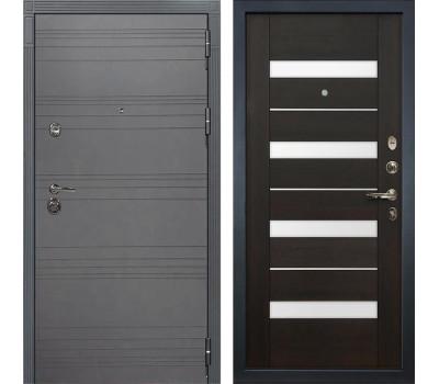 Входная металлическая дверь Лекс Сенатор 3К Софт графит / Сицилио Венге (панель №51)