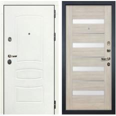 Входная дверь Лекс Сенатор 3К Шагрень белая / Сицилио Ясень кремовый (панель №48)