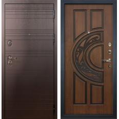 Входная дверь Лекс Легион Голден патина черная (панель №27)