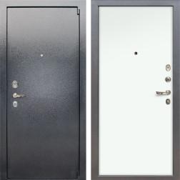 Входная стальная дверь Лекс 3 Барк (Серый букле / Винорит Белый) панель №59