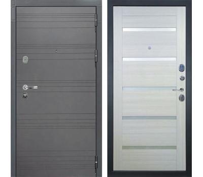 Входная стальная дверь Лекс Легион 3К Софт графит / Клеопатра-2 Дуб беленый (панель №58)