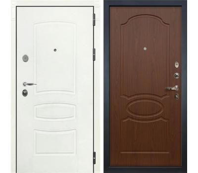 Входная стальная дверь Лекс Легион 3К Шагрень белая / Береза мореная (панель №12)