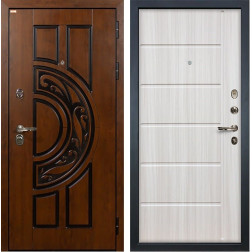 Входная стальная дверь Лекс Спартак Cisa Сандал белый (панель №42)