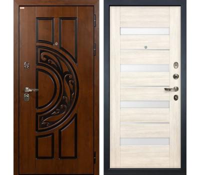 Входная стальная дверь Лекс Спартак Cisa Сицилио Дуб беленый (панель №46)