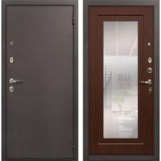 Входная дверь Лекс 1А с Зеркалом Береза мореная (панель №30)