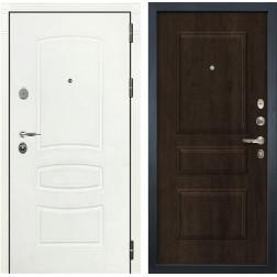 Входная стальная дверь Лекс Легион 3К Шагрень белая / Алмон 28 (панель №60)