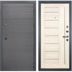 Входная дверь Лекс Сенатор 3К Софт графит / Верджиния Дуб беленый (панель №38)