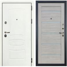 Входная дверь Лекс Сенатор 3К Шагрень белая / Клеопатра-2 Ясень кремовый (панель №66)
