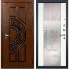Входная дверь Лекс Спартак Cisa Стиль с Зеркалом Ясень белый (панель №61)