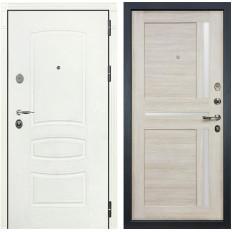 Входная дверь Лекс Легион 3К Шагрень белая / Баджио Ясень кремовый (панель №49)