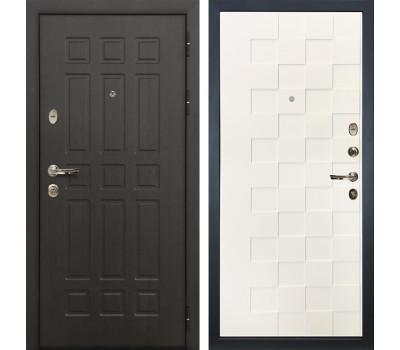 Входная металлическая дверь Лекс Сенатор 8 Белая шагрень Квадро (панель №71)