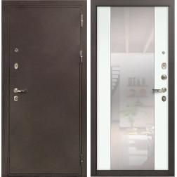 Входная стальная дверь Лекс 5А Цезарь Стиль с Зеркалом Ясень белый (панель №61)