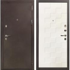 Входная дверь Лекс 5А Цезарь Белая шагрень Квадро (панель №71)