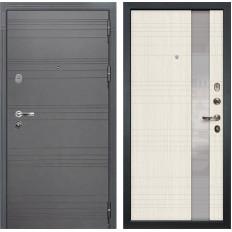 Входная дверь Лекс Легион 3К Софт графит / Новита Дуб беленый (панель №52)