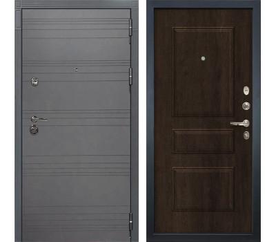Входная металлическая дверь Сенатор 3К Софт графит / Алмон 28 (панель №60)