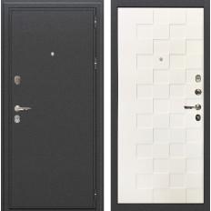 Входная дверь Лекс Колизей Белая шагрень Квадро (панель №71)