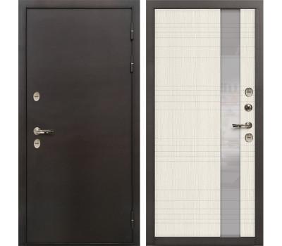 Входная уличная дверь с терморазрывом Лекс Термо Сибирь 3К Новита Дуб беленый (панель №52)