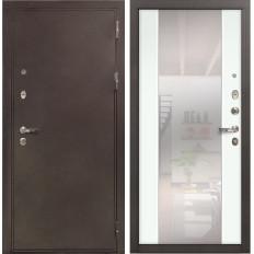 Входная дверь Лекс 5А Цезарь Стиль с Зеркалом Ясень белый (панель №61)