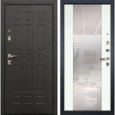 Входная дверь Лекс Сенатор 8 Стиль с Зеркалом Ясень белый (панель №61)
