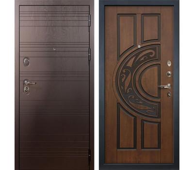 Входная стальная дверь Лекс Легион 3К Голден патина черная (панель №27)