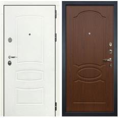 Входная дверь Лекс Легион 3К Шагрень белая / Береза мореная (панель №12)