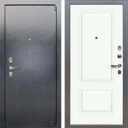 Входная стальная дверь Лекс 3 Барк Вероника-1 Шпон (Серый букле / Эмаль Белая) панель №55