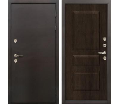 Входная уличная дверь с терморазрывом Лекс Термо Сибирь 3К Винорит Алмон 28 (панель №60)