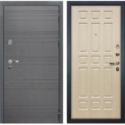 Входная стальная дверь Лекс Легион 3К Софт графит / Дуб беленый (панель №28)