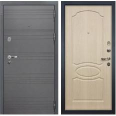Входная дверь Лекс Легион 3К Софт графит / Дуб беленый (панель №14)