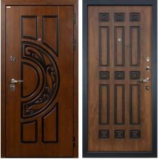 Входная дверь Лекс Спартак Cisa Винорит Голден патина черная (панель №33)
