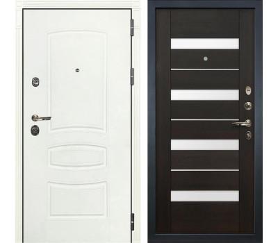Входная металлическая дверь Лекс Сенатор 3К Шагрень белая / Сицилио Венге (панель №51)
