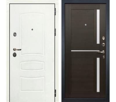 Входная металлическая дверь Лекс Сенатор 3К Шагрень белая / Баджио Венге (панель №50)