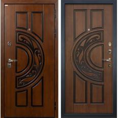 Входная дверь Лекс Спартак Cisa Винорит Голден патина черная (панель №27)