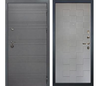 Входная металлическая дверь Лекс Сенатор 3К Софт графит / Софт графит Квадро (панель №72)