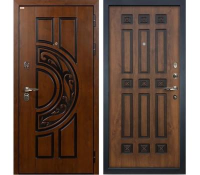 Входная стальная дверь Лекс Спартак Cisa Винорит Голден патина черная (панель №33)