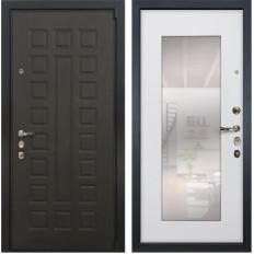 Входная дверь Лекс 4А Неаполь Mottura с Зеркалом Ясень белый (панель №37)