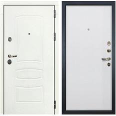 Входная дверь Лекс Сенатор 3К Шагрень белая / Ясень белый (панель №62)