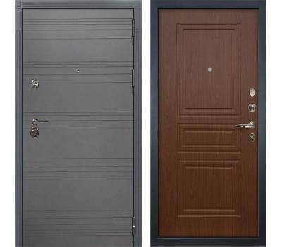 Входная металлическая дверь Лекс Сенатор 3К Софт графит / Береза мореная (панель №19)