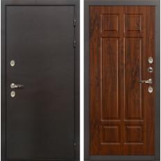 Входная дверь с терморазрывом Лекс Термо Сибирь 3К Винорит дуб тёмный (панель №90)