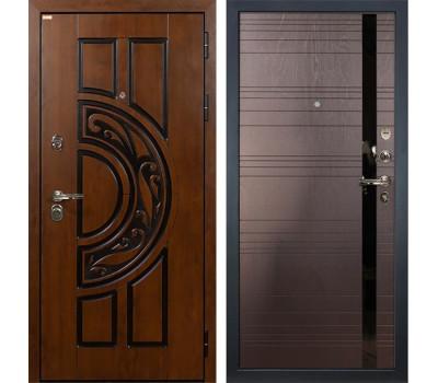 Входная стальная дверь Лекс Спартак Cisa Ясень шоколад (панель №31)