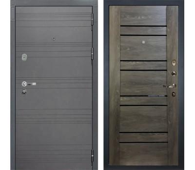 Входная стальная дверь Лекс Легион 3К Софт графит / Терра Графит шале (панель №64)