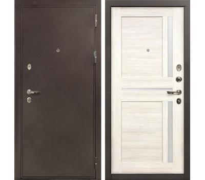 Входная стальная дверь Лекс 5А Цезарь Баджио Дуб беленый (панель №47)