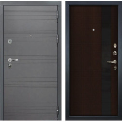 Входная стальная дверь Лекс Легион 3К Софт графит / Новита Венге (панель №53)