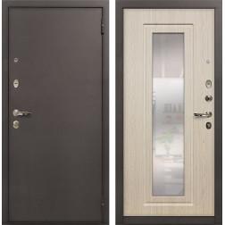 Входная дверь Лекс 1А с Зеркалом Дуб беленый (панель №23)
