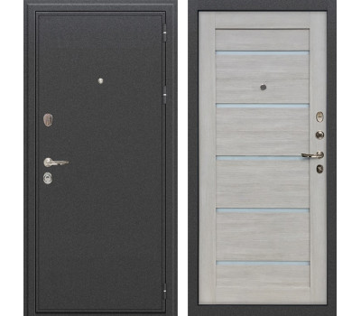 Входная стальная дверь Лекс Колизей Клеопатра-2 Ясень кремовый (панель №66)
