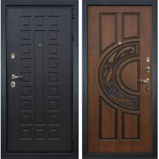 Входная дверь Лекс Гладиатор 3К Голден патина черная (панель №27)