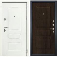 Входная дверь Лекс Легион 3К Шагрень белая / Алмон 28 (панель №60)