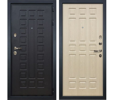 Входная металлическая дверь Лекс Гладиатор 3К Дуб беленый (панель №28)